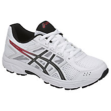Buy Asics Children's Gel Contend GS Laced Trainers, White Online at johnlewis.com