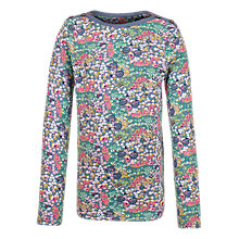 Buy Fat Face Girls' Floral Bicycle Print T-Shirt, Multi Online at johnlewis.com