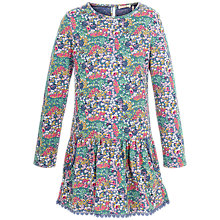 Buy Fat Face Girls' Darlia Bicycle Print Dress, Navy/Multi Online at johnlewis.com