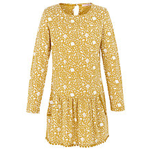 Buy Fat Face Girls' Darlia Ditsy Print Dress, Yellow Online at johnlewis.com