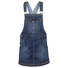 Buy Fat Face Girls' Denim Pinafore Dress, Denim Online at johnlewis.com
