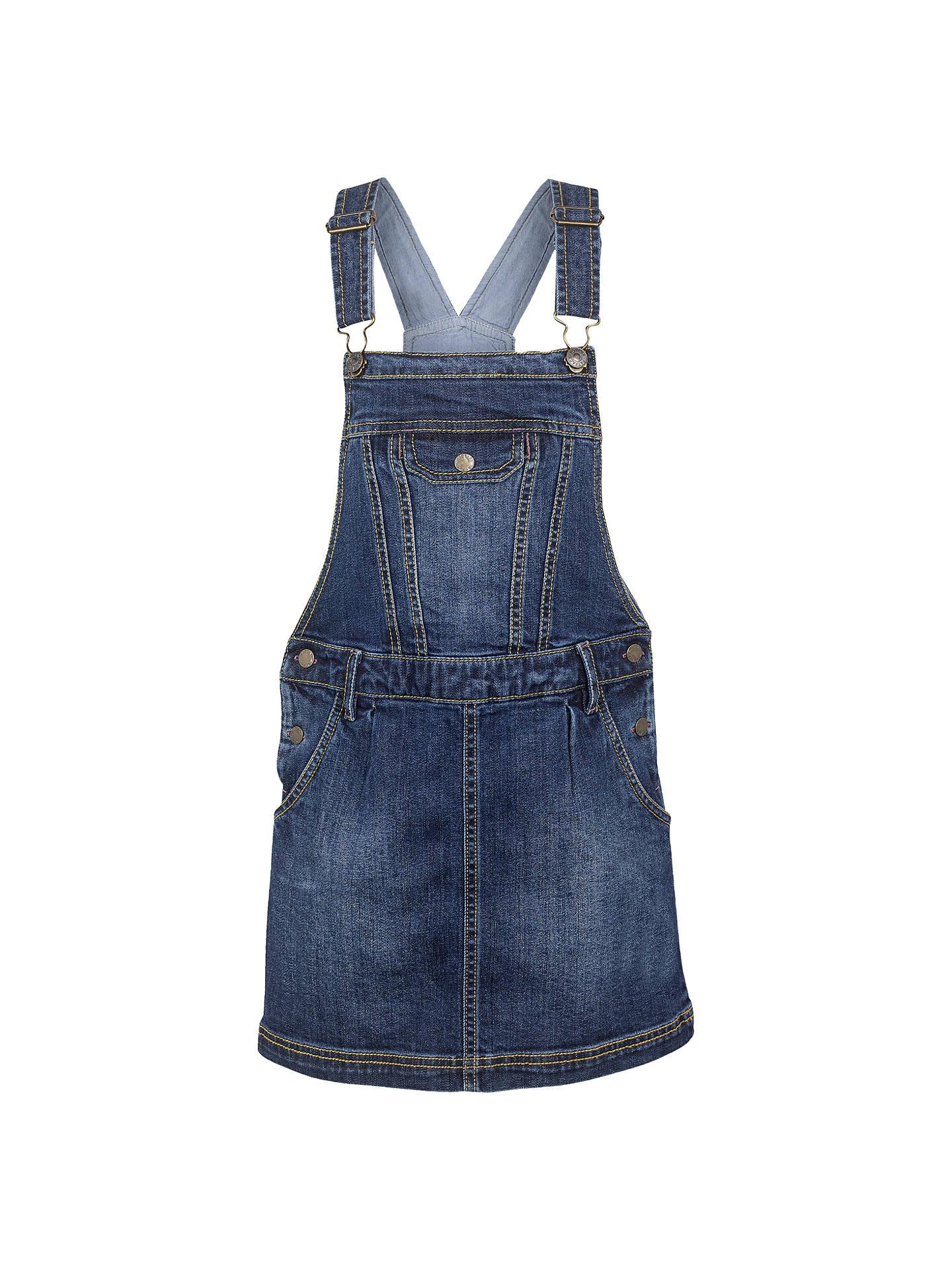 86806c8c1e1c Buy Fat Face Girls' Denim Pinafore Dress, Denim, 2-3 years Online ...