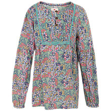 Buy Fat Face Girls' Emily Bicycle Print Blouse, Multi Online at johnlewis.com