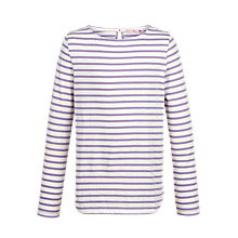 Buy Fat Face Girls' Long Sleeved Breton T-Shirt Online at johnlewis.com