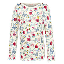 Buy Fat Face Girls' Long Sleeved Breton T-Shirt, Ecru Online at johnlewis.com
