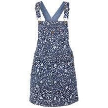Buy Fat Face Girls' Printed Denim Pinafore Dress, Denim Online at johnlewis.com