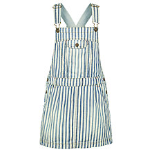 Buy Fat Face Girls' Stripe Denim Pinafore Dress, Blue/White Online at johnlewis.com