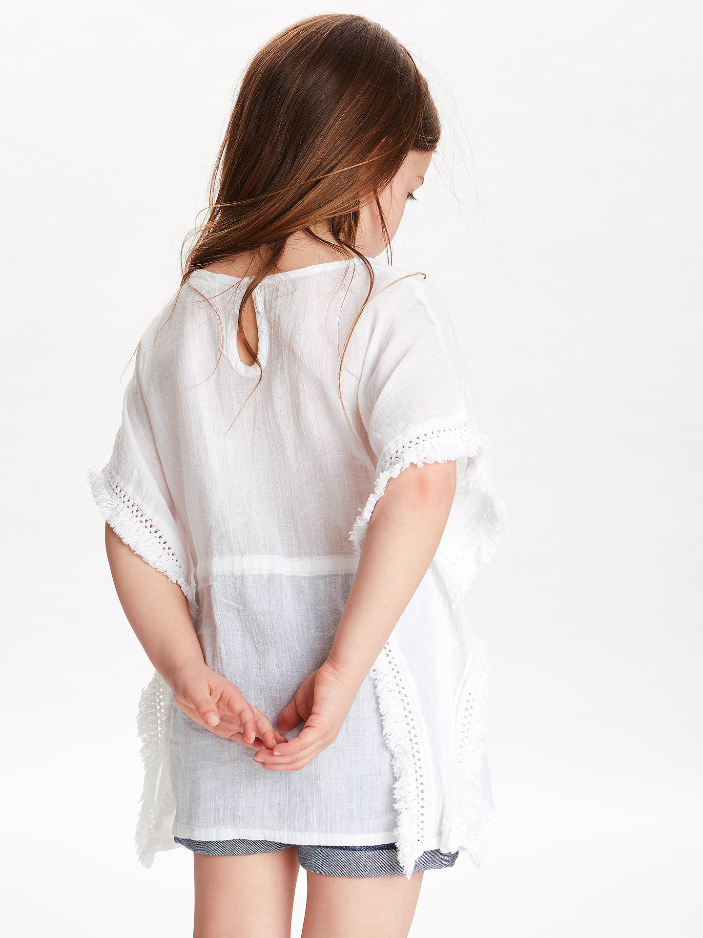 BuyJohn Lewis & Partners Girls' Kaftan, White, 3 years Online at johnlewis.com