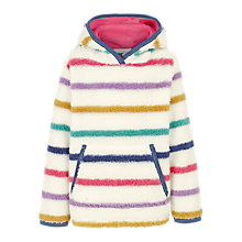 Buy Fat Face Girls' Striped Popover Fleece, Multi Online at johnlewis.com