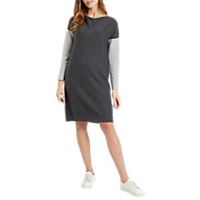 Buy Jaeger Colour Block Knitted Dress, Grey/Plain Online at johnlewis.com