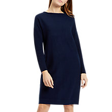 Buy Jaeger Colour Block Knitted Dress, Navy Online at johnlewis.com