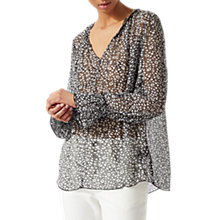 Buy Jigsaw Star Floral Blouse, Black Online at johnlewis.com