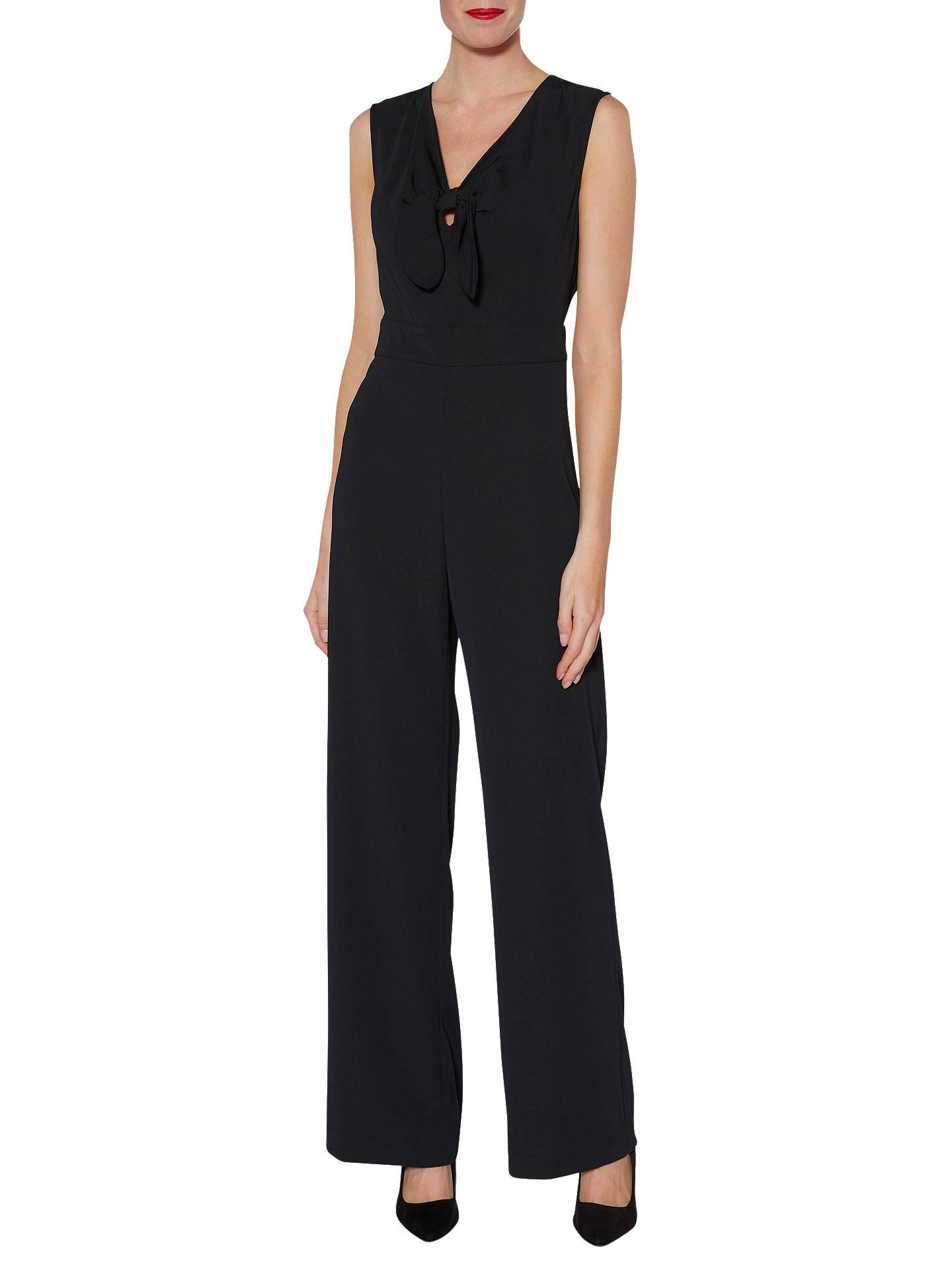 c1e551667d11 Buy Gina Bacconi Cleo Bow Detail Jumpsuit, Black, 16 Online at  johnlewis.com ...