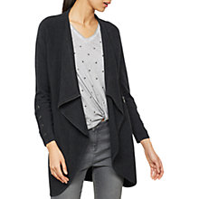 Buy Mint Velvet Lace Up Sleeve Cardigan, Grey Online at johnlewis.com