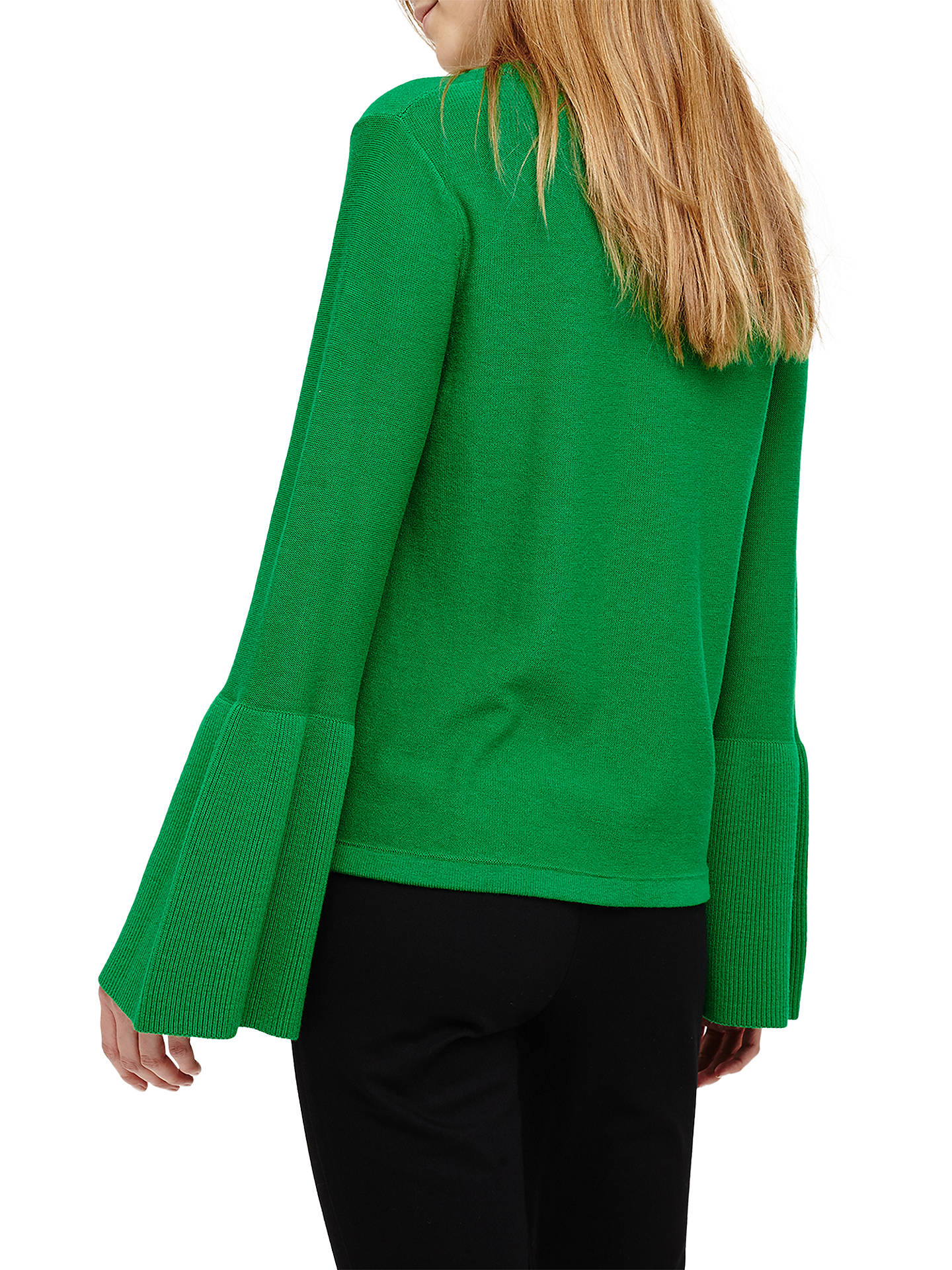 Buy Phase Eight Flori Bell Sleeve Knitted Top, Green, 12 Online at johnlewis.com