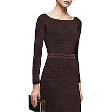 Buy Reiss Brooke Cold Shoulder Top, Chocolate Online at johnlewis.com
