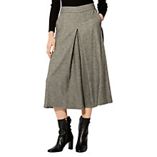 Buy Karen Millen Cropped Wide Leg Trousers, Black/Multi Online at johnlewis.com