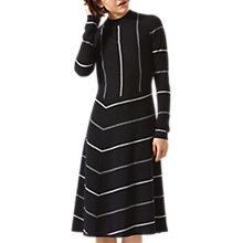 Buy Jigsaw Diagonal Cut Stripe Dress, Navy Online at johnlewis.com