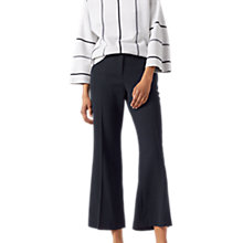 Buy Jigsaw Tailored Kick Flare Trousers, Navy Online at johnlewis.com