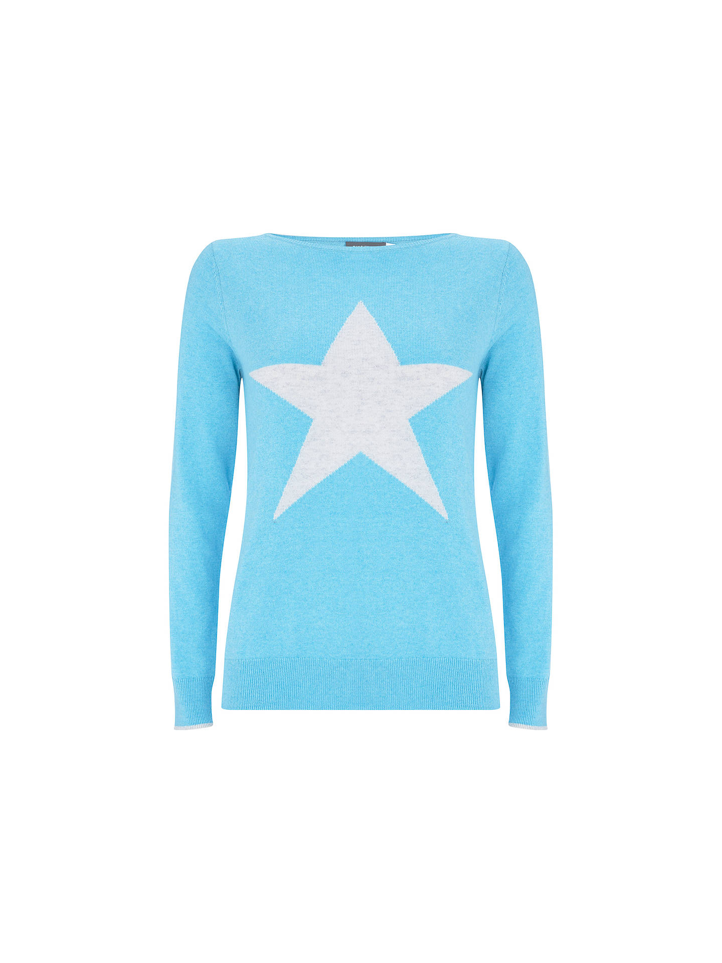 ae2a1051c4a9 Buy Mint Velvet Star Crew Neck Jumper, Light Blue, 6 Online at johnlewis.