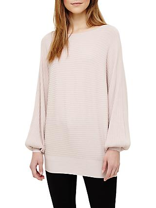 Phase Eight Bettine Balloon Sleeve Jumper, Soft Pink