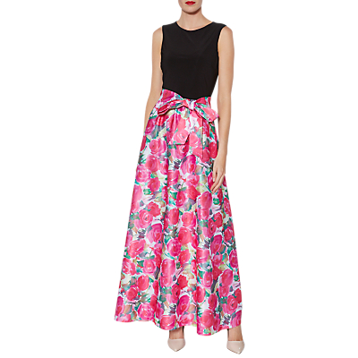 Gina Bacconi Bernadette Floral Print Maxi Dress, Pink
