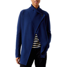Buy Jigsaw Ring Fastening Pique Pure Wool Cardigan Online at johnlewis.com