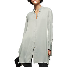 Buy Reiss Bianca Longline Shirt, Soft Apple Online at johnlewis.com