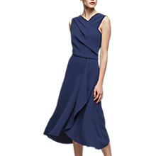 Buy Reiss Marling Draped Dress, Teal Online at johnlewis.com