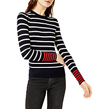Buy Warehouse Striped Colour Block Jumper, Navy/Multi Online at johnlewis.com