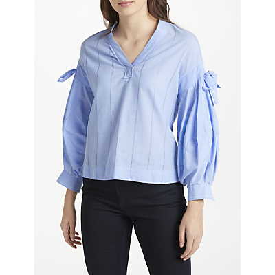 Maison Scotch Bow Detail Shirt, Sky Blue