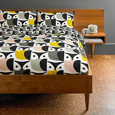 Orla Kiely Big Owl Bedding, Pink / Grey