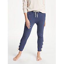 Buy Ana Heart Levin Lace Up Sweatpants, Dark Blue Online at johnlewis.com