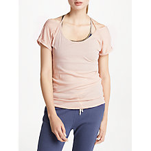 Buy Ana Heart Amy Short Sleeve T-Shirt, Pink Online at johnlewis.com