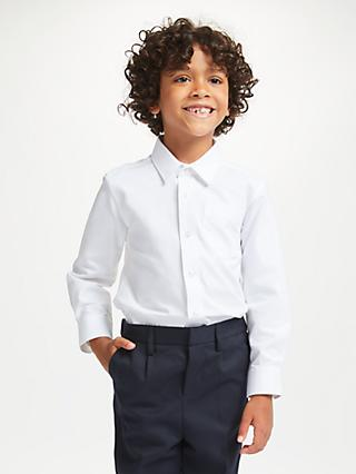 41e99dba93f John Lewis   Partners Boys  Organic Cotton Long Sleeve School Shirt