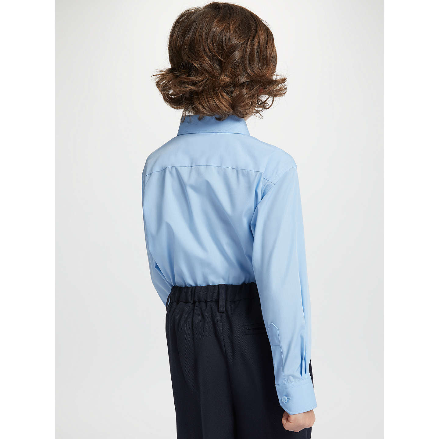 BuyJohn Lewis Easy Care Long Sleeve School Shirt, Pack of 2, Blue, 3 years Online at johnlewis.com