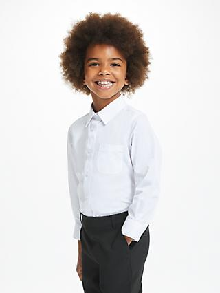 f75058cac73 John Lewis   Partners Girls  Easy Care Button Neck Long Sleeve School Shirt