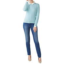 Buy Pure Collection Crew Neck Cashmere Jumper, Aqua Online at johnlewis.com