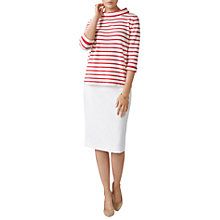 Buy Pure Collection Cashmere Stripe Bardot Jumper, Multi Online at johnlewis.com