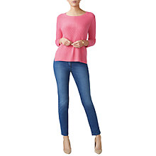 Buy Pure Collection Gassato Cashmere Cable Jumper Online at johnlewis.com