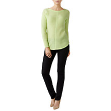 Buy Pure Collection Gassato Cashmere Soft Ribbed Jumper Online at johnlewis.com