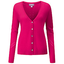 Buy Pure Collection Pointelle Cardigan, Hot Pink Online at johnlewis.com
