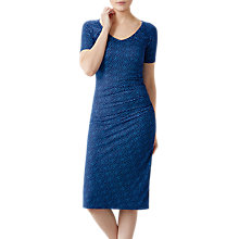 Buy Pure Collection Abstract Spot Jersey Bardot Dress, Blue Online at johnlewis.com