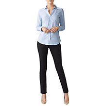 Buy Pure Collection Cotton Shirt, Blue/White Online at johnlewis.com