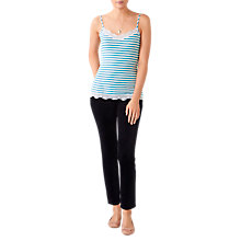 Buy Pure Collection Lace Jersey Camisole, Blue/White Online at johnlewis.com