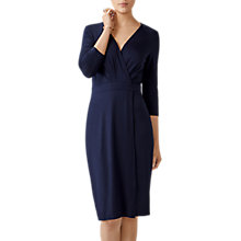 Buy Pure Collection Jersey Wrap Dress, Navy Online at johnlewis.com