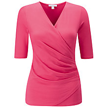 Buy Pure Collection Curved Jersey Wrap Top Online at johnlewis.com