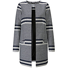 Buy Pure Collection Longline Jacket, Stripe Online at johnlewis.com