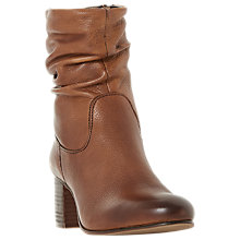 Buy Dune Remie Block Heeled Ankle Chelsea Boots, Chesnut Online at johnlewis.com
