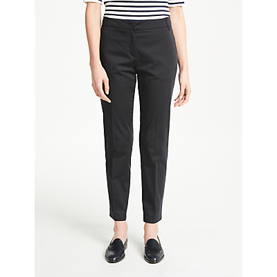 Marc Cain Cotton Sateen Ankle Grazer Trousers, Navy